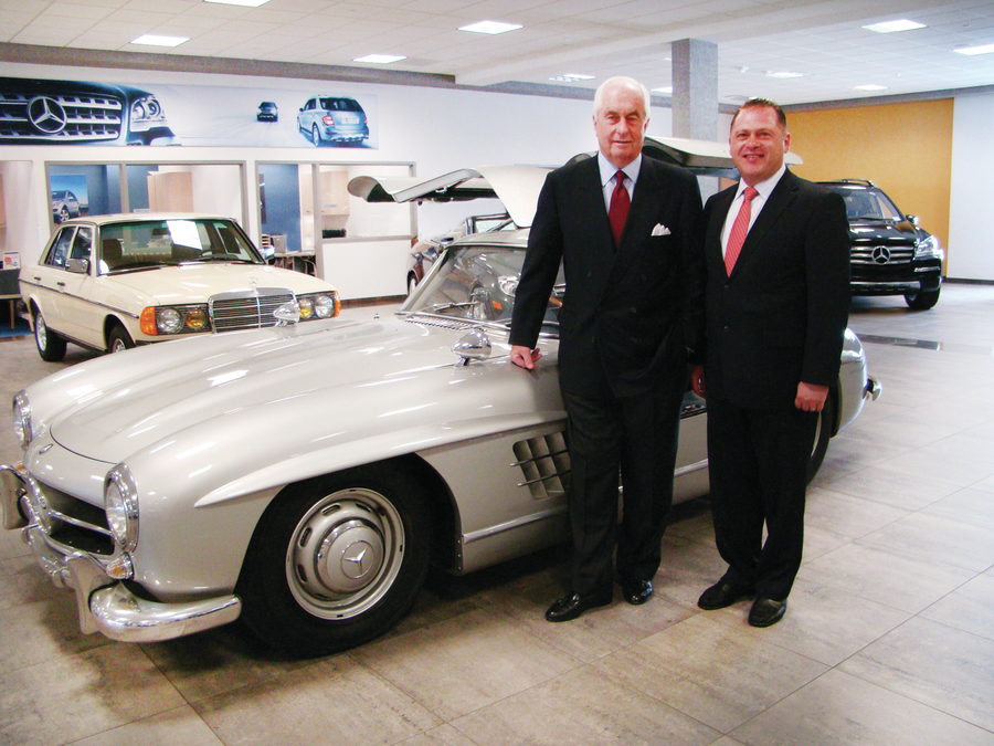 With Roger Penske   Mercedes Benz Of Fairfield